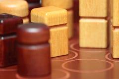 Kwarto houten stukken Royalty-vrije Stock Afbeeldingen