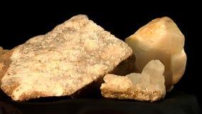 Kwarts en de kristallen en het basalt van TIF met kwarts stock footage
