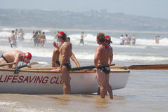 KwaZulu Natal lifeguard challenge Royalty Free Stock Images