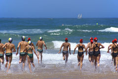 KwaZulu Natal lifeguard challenge event Royalty Free Stock Photography