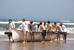 KwaZulu Natal lifeguard challenge event Royalty Free Stock Images