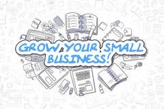 Kweek Uw Kleine Onderneming - Bedrijfsconcept royalty-vrije illustratie