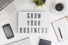 Kweek uw zaken Stock Foto