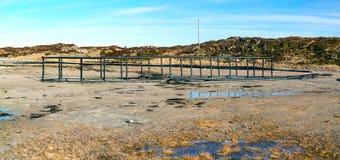 Kweken van visplatforms in Noorwegen stock afbeelding