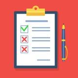 Kwestionariusz, ankieta, schowek, forma, zadanie listy listy kontrolnej wi Obraz Royalty Free