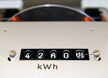 Kwh counter Royalty Free Stock Photos
