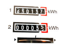 KWh counter Stock Photography