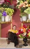 kwiaciarni praca szczęśliwa ciężka odpoczynkowa Obraz Royalty Free