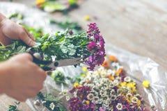 Kwiaciarnia robi kwiat dekoraci fotografia royalty free