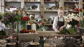Kwiaciarnia wyciera miejsce pracy zbiory wideo