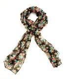 Kwiaciasty czarny neckerchief Fotografia Royalty Free
