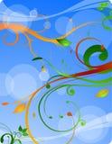 kwiatów błękitny liść Ilustracji