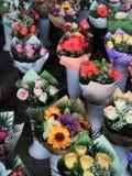 Kwiatów bouqets różni kolory Zdjęcia Royalty Free