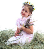 kwiatów dziewczyny wianek Fotografia Stock