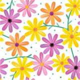 kwiatów gerbera wzór bezszwowy royalty ilustracja