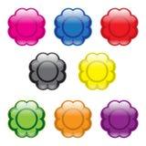 Kwiatów guziki ilustracja wektor