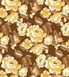 Kwiatów i liści obfitość wykładający masowo Obraz Stock