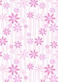 Kwiatów i trzonów powtórki wzór. Zdjęcia Royalty Free