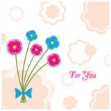 kwiatów ilustracyjny plasteliny pocztówki wektor Fotografia Stock