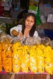 kwiatów khlong Pak ludzie target4688_1_ thalat Obrazy Royalty Free