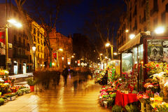 Kwiatów kioski na losie angeles Rambla. Barcelona Obrazy Stock