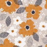 kwiatów liść wzór bezszwowy Zdjęcia Royalty Free