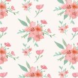 kwiatów liść wzór bezszwowy royalty ilustracja