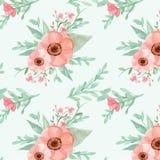 kwiatów liść wzór bezszwowy Fotografia Royalty Free