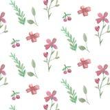 kwiatów liść wzór bezszwowy ilustracja wektor