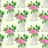 kwiatów liść wzór bezszwowy Obrazy Stock