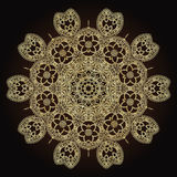 Kwiatów mandalas elementu dekoracyjny rocznik Orientała wzór w stylu islamu, język arabski, indianin, turecki, Pakistan Obraz Royalty Free