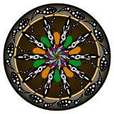 Kwiatów mandalas elementu dekoracyjny rocznik Orientała wzór, wektorowa ilustracja Islam, język arabski, indianin, turecki obrazy stock