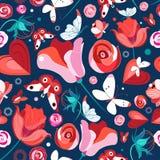 Kwiatów motyle i wzór ilustracji