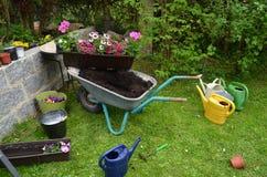 Kwiatów ogrodowi narzędzia obrazy stock