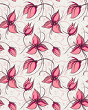 kwiatów orchidei wzoru czerwień bezszwowa Zdjęcia Stock