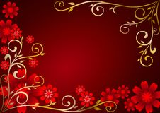 kwiatów ornamentu czerwień Obraz Stock