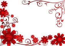 kwiatów ornamentu czerwień Zdjęcie Royalty Free