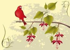 kwiatów ornamentu drzewo Obrazy Royalty Free