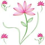 kwiatów płatków różowa czerwień royalty ilustracja