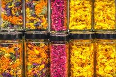 Kwiatów płatków słoju tekstura Zdjęcia Stock