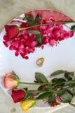 kwiatów pierścionków target2_1_ Obraz Stock