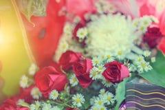 Kwiatów przygotowań wiosny róż świętowania bukieta pastel Fotografia Royalty Free