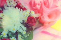 Kwiatów przygotowań wiosny róż świętowania bukieta pastel Zdjęcia Stock