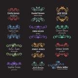 Kwiatów ręka kreślący kształty dla oznakować Fotografia Royalty Free