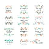 Kwiatów ręka kreślący kształty dla oznakować Zdjęcia Royalty Free