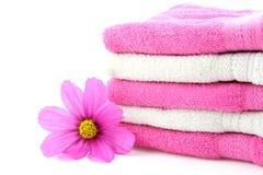kwiatów ręczniki Zdjęcie Royalty Free