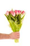 kwiatów ręki mienie zdjęcia stock