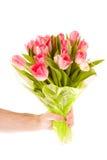 kwiatów ręki mienie obraz royalty free