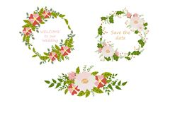 Kwiatów round składy Zdjęcie Royalty Free