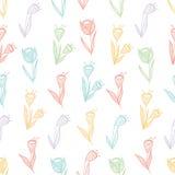 Kwiatów seamles wzór fotografia royalty free